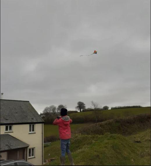 Molly - flying kite