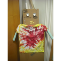Bob the Robot wearing his Tie-dye t-shirt!