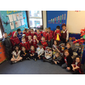 Class 3 in their Eisteddfod outfits