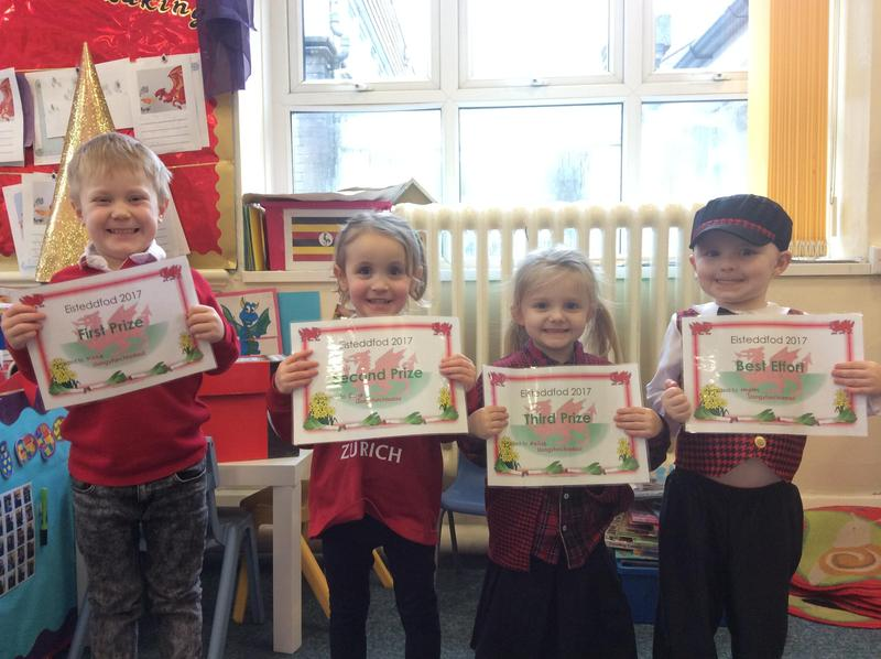 Prize Winners- Colouring of the Welsh Flag