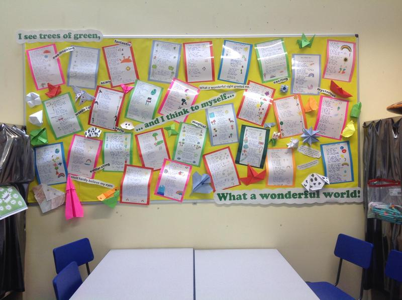 Our magnificent display outside our classroom