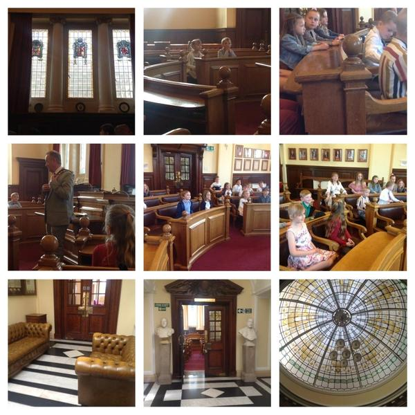 We explored the different rooms.