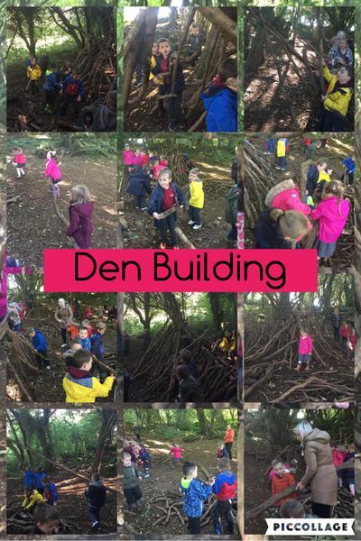 Teamwork when we were den building