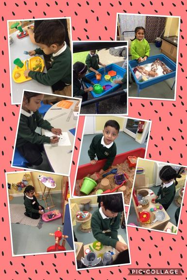 We have been learning how to use the provision and have been working on the prime areas.