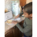 Rayyaan made his own toast