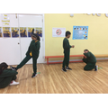 Freeze frames showing what bullying might look like.