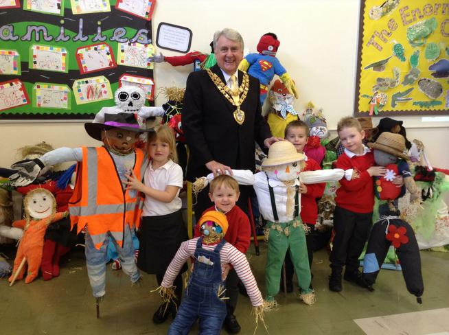 The Lord Mayor judged our Scarecrow Competition