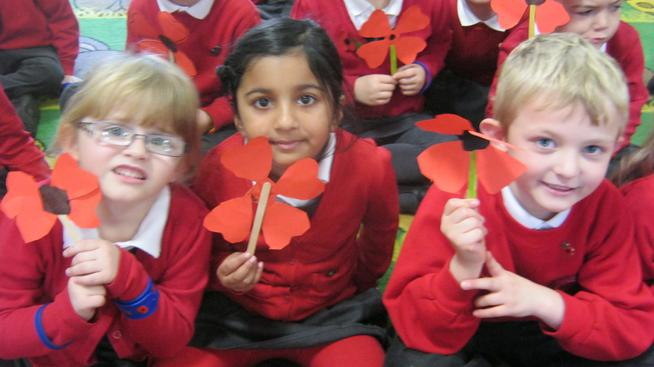 Year 1 remembered those who had died at war