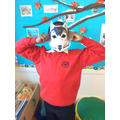Red Riding Hood - acting as the wolf!