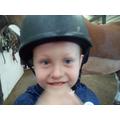 We went horse riding.