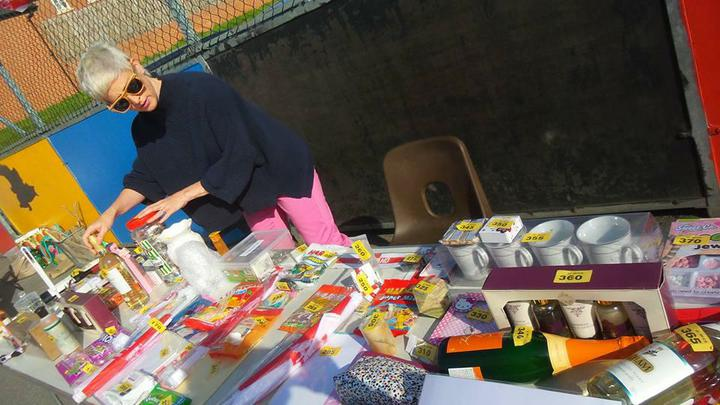 Our Tombola stall.