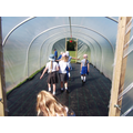 Our new school polytunnel.....so hot