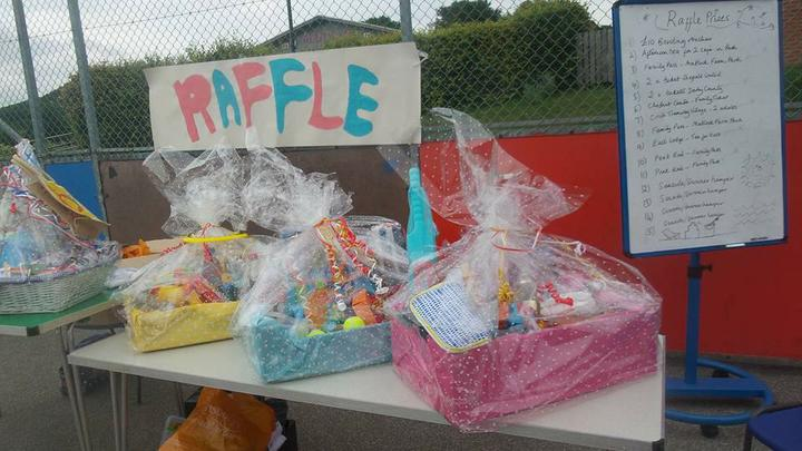 Raffle prizes - Seaside/Holiday themed hampers.