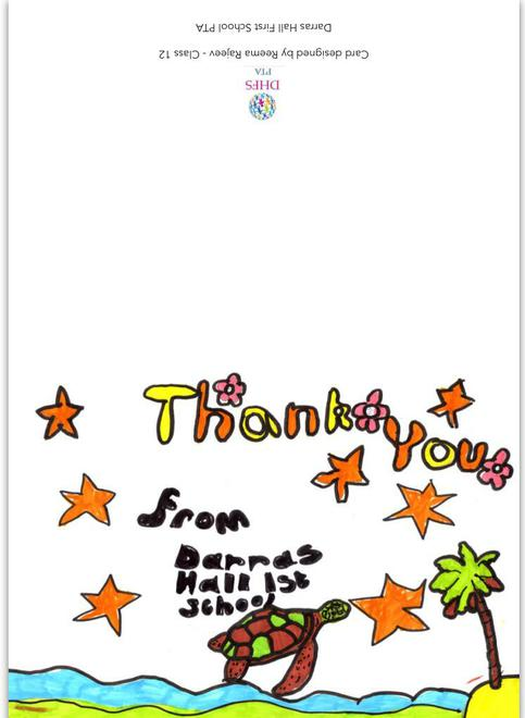 PTA Thank you card created by Reema