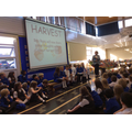 Year 4 children leading the assembly with Rev Ross