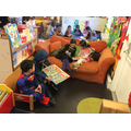 Reading with children from big school
