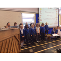 The choir performed beautifully