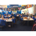 Class13 making their Christingles