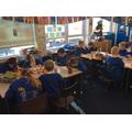 Class 13 making their Chfistingles