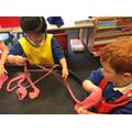 We tied knots in it.