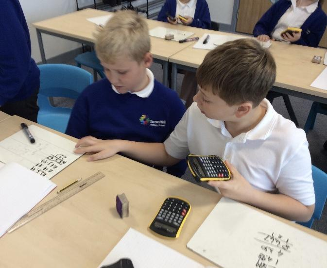 Using calculators to check answers