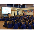 We started the day with a whole school assembly