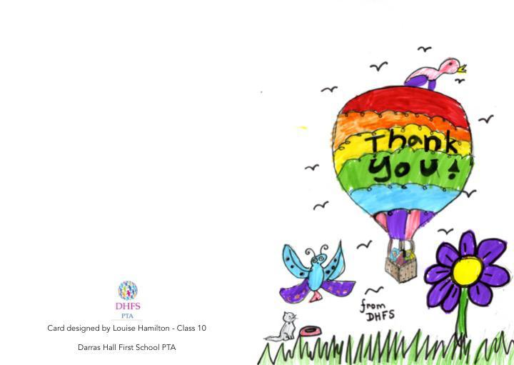 PTA Thank you card created by Louisa.