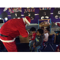 and Santa was there.