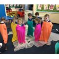 We met some funny coloured aliens.