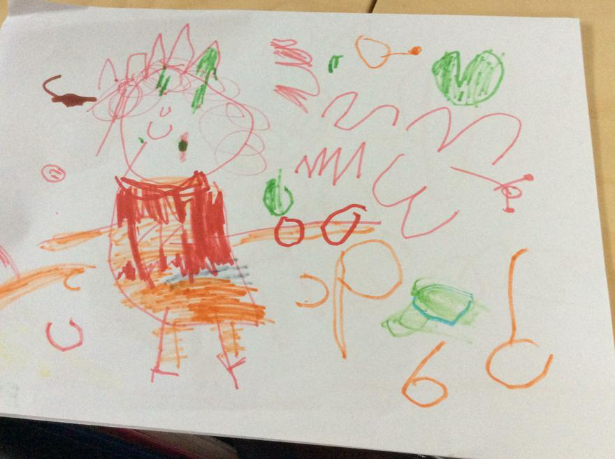 The Queen by Esther age 4