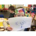 Writing to Humpty's Mummy.