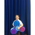 Holly's giant fidget spinner