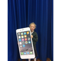 Scarlett's giant iPhone