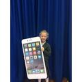 Scarlett's giant iPhone