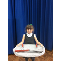 Evie's giant plate & cutlery