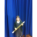 Lina's giant pencil