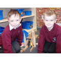 Making a dinosaur den in Construction.