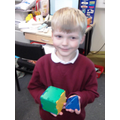 Making 3D shapes in the maths area.