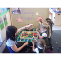Using our 'Funky Finger' station...