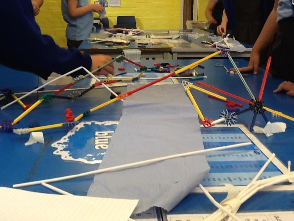 We had a very creative bridge from blue table