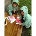Using gloop bags to practise mark making