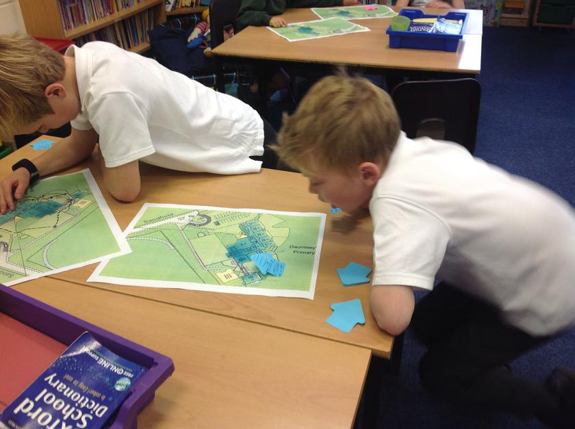 Map work based on our school grounds