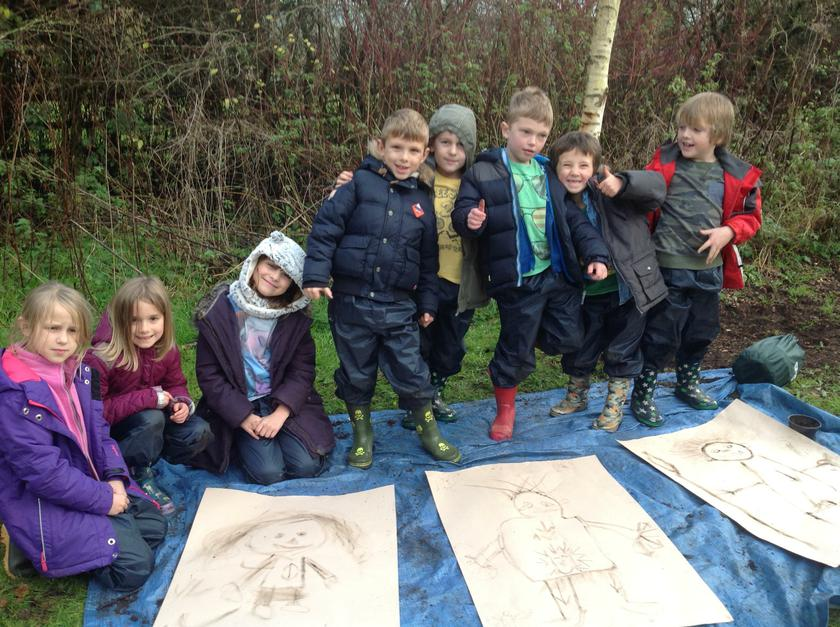 Creating big Art in the woods