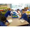Using non-standard units to measure (cubes)