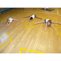 Look at us doing our gmnastics!