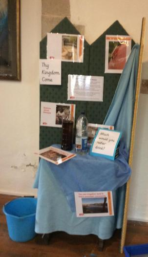 A display in church to think about clean water