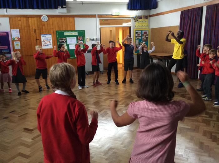Learning African dances.