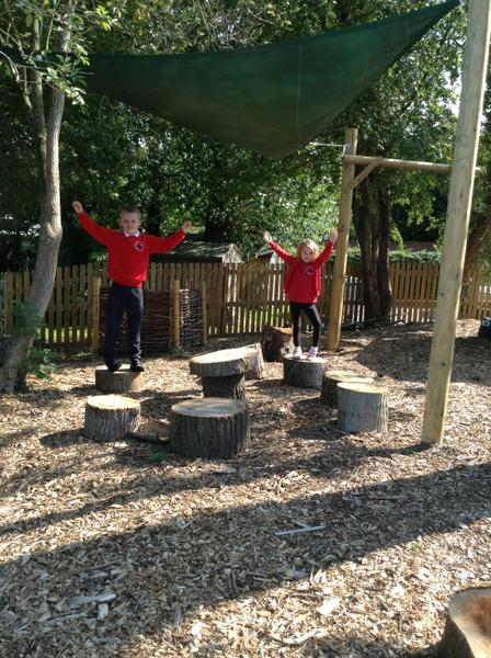 Now we have a lovely outdoor area to do forest school activities.