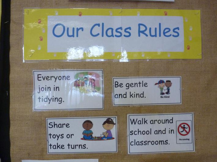 Reception Class Rules
