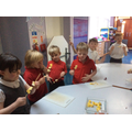 Making our Magic Wand Fruti Kebabs!